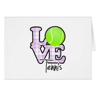 Love Tennis Card