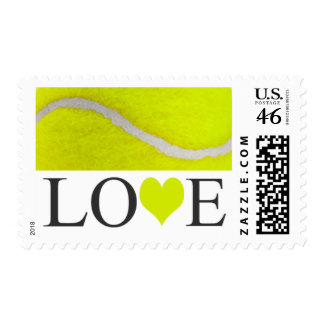 Love Tennis Postage Stamps