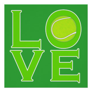 LOVE: Tennis Poster