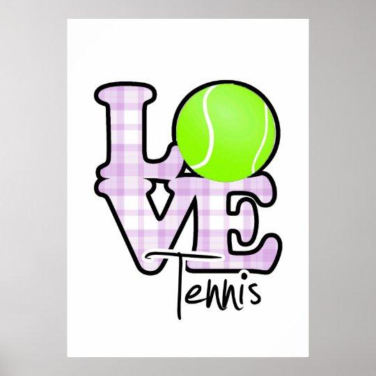 Love Tennis Poster