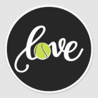 Love Tennis Sticker Tennis Ball