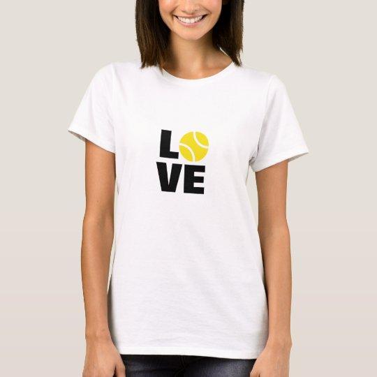 Love tennis t-shirt for men women and kids