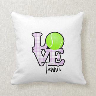 Love Tennis Throw Pillow