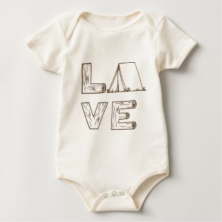 Love Tent Camping Baby Bodysuit