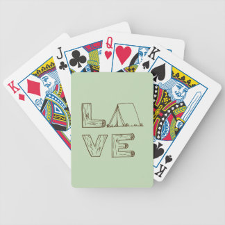 Love Tent Camping Playing Cards