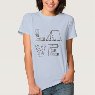 Love Tent Camping T Shirt