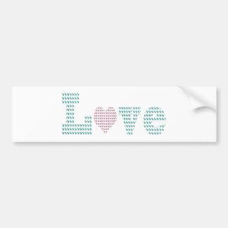 Love Terrier Prints! Car Bumper Sticker