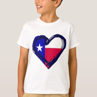 Love Texas - Flag in Heart T-Shirt
