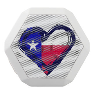 Love Texas - Flag in Heart White Bluetooth Speaker