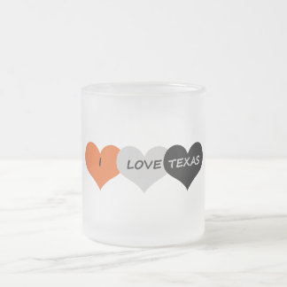 Love Texas Frosted Glass Coffee Mug
