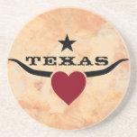 Love Texas Sandstone Coaster