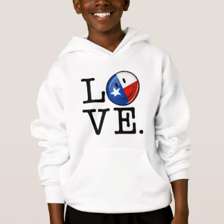 Love Texas Smiling Flag Hoodie