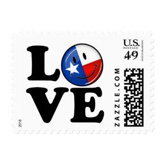 Love Texas Smiling Flag Postage