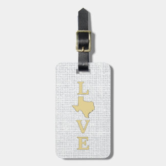 LOVE Texas State Map Bag Tag