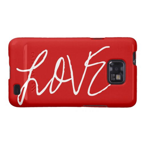 Love Text Customizable Colors Phone Case Samsung Galaxy SII Cases