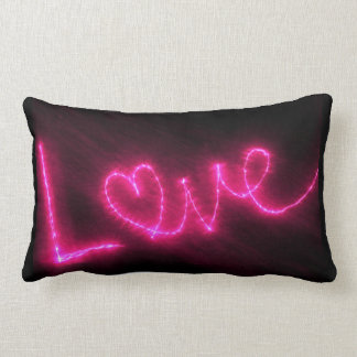 Love Text In Hot Pink Throw Pillow