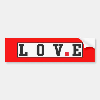 love text message emotion feeling red dot square bumper sticker
