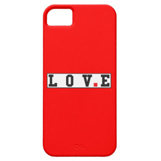 love text message emotion feeling red dot square iPhone SE/5/5s case
