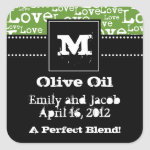 Love Text Olive Oil Favor Tags in Lime zazzle_sticker