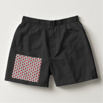 Love Text Pattern With Hearts Boxers