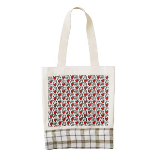 Love Text Pattern With Hearts Zazzle HEART Tote Bag