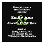 Love Text Rehearsal Dinner in Lime Personalized Invitation