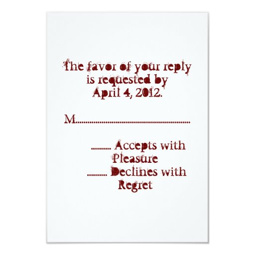 Love Text Reply Cards in Merlot