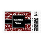 Love Text Thank You Postage in Merlot zazzle_stamp