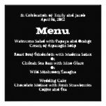 Love Text Wedding Menu in Lime Personalized Announcements