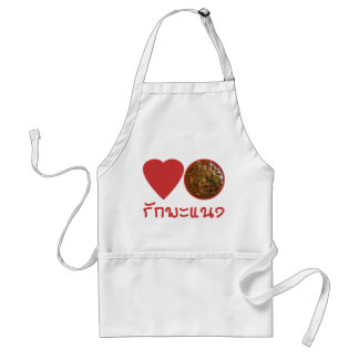 Love Thai Panang Curry ... Thai Street Food Adult Apron