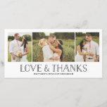 "Love &amp; Thanks Boho | Wedding Thank You Photo Card<br><div class=""desc"">Photographs provided courtesy of &#169;Blush Photography</div>"