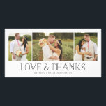 "Love &amp; Thanks Boho   Wedding Thank You Photo Card<br><div class=""desc"">Photographs provided courtesy of &#169;Blush Photography</div>"