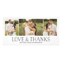 Love & Thanks Boho | Wedding Thank You Photo Card
