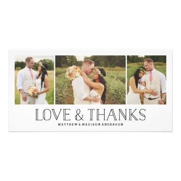 FINEandDANDY Love & Thanks Boho | Wedding Thank You Photo Card