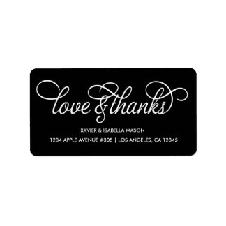 Love & Thanks | Custom Background Color Label