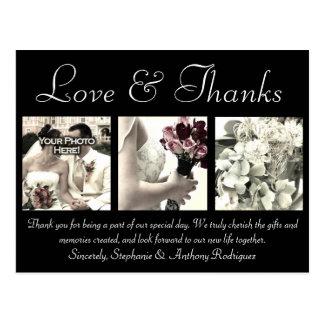 Love/Thanks Custom Wedding Thank You Card 3 Photos