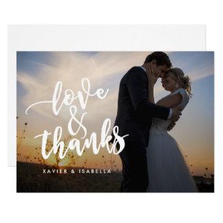 Love & Thanks Script | Photo Thank You Card
