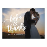 Love & Thanks Script | Photo Thank You Card