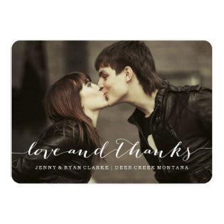 LOVE & THANKS SCRIPT | WEDDING THANK YOU PHOTO CARD