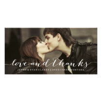 LOVE & THANKS SCRIPT | WEDDING THANK YOU PHOTO CARD