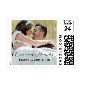LOVE & THANKS SCRIPT | WEDDING THANK YOU STAMP