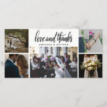 Love & Thanks | Wedding Five Photo Holiday Thank You Card