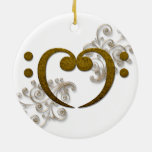 Love that Bass - its all about the Bass Double-Sided Ceramic Round Christmas Ornament