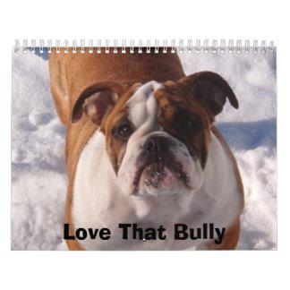 Love that Bulldog Calander Wall Calendar