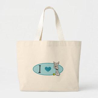 Love That Dog -Blue Logo Canvas Bag