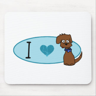 Love That Dog -Blue Logo Mouse Pad