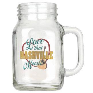 Love That Nashville Music Mason Jar (20 oz)