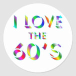 Love the 60's round stickers