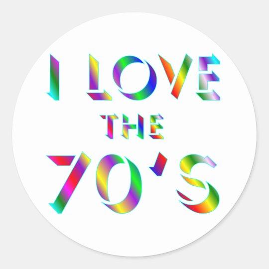 Love the 70's classic round sticker
