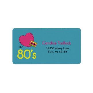 Love the 80's Address label